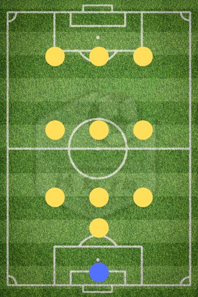 Футбольная схема 1-3-3-3