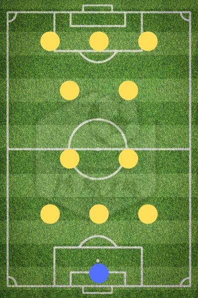 Футбольная схема дубль-вэ